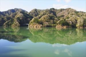 湖が緑だね〜。それに、ここ最近...