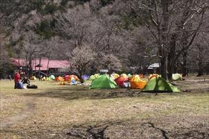 キャンプ場が見えてきた。...