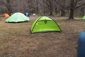 今日はテントを撤収して小梨平の...