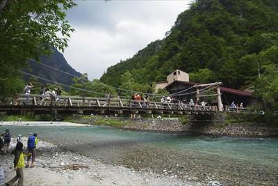 河童橋その2。天気いいじゃん!...