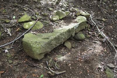 ふと、振り返ると祭壇の様な石が...