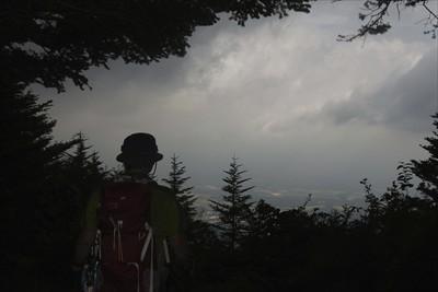 本当は正面に富士山がドーンと見...