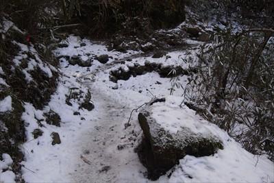 ・・・突然雪道に・・・。...