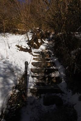 それにしてもこのルート、階段が...