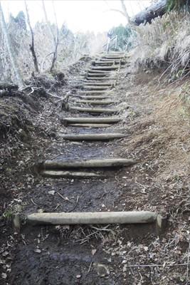 最後の登り。...