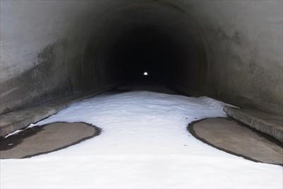 トンネル内は雪が無いので・・・...