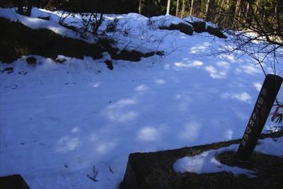 林道に出た・・・けど、雪がいっ...