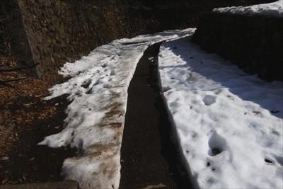 雪が心配だったけど、人が歩ける...