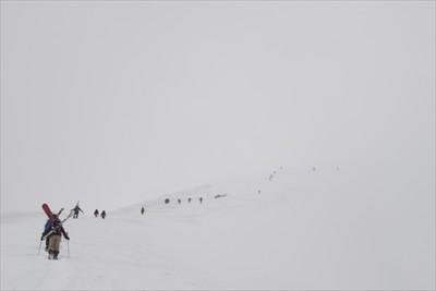 肩ノ小屋への最後の登り・・・。...