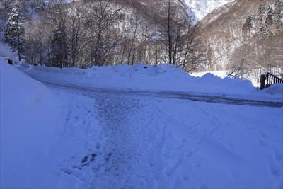 雪道おしまい。...