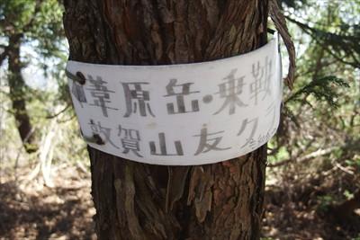 上の写真で右が芦原岳。左が黒河...