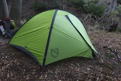 テント設営完了。...