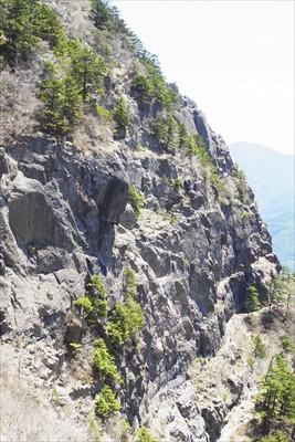 関東屈指の岩場の屏風岩が真正面...