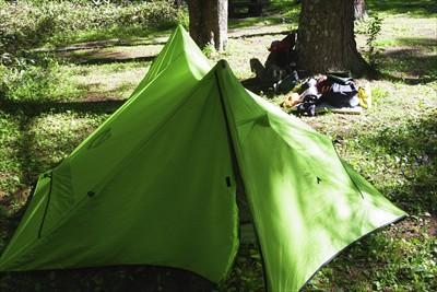 さて、テントを片付けますか・・...