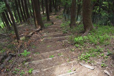 段差の高い階段が続く。...