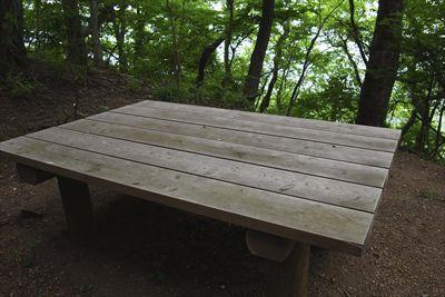 やっぱりここにもベンチはある。...