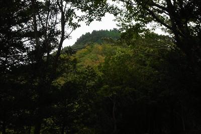 鐘ヶ嶽山頂が近くに見える。...