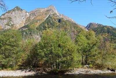 明神岳のビューポイントでひょう...