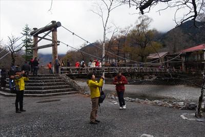 河童橋。中国さんがたくさんいた...