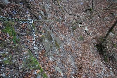 登山道がちょっと崩落した所もあ...