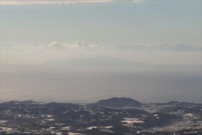 大島も見える。...