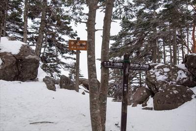 中山峠までは緩やかな道を5分程...