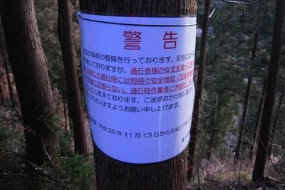 どうやらこの辺で森林の整備が行...