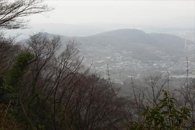 さっきまでいた権現山と弘法山が...