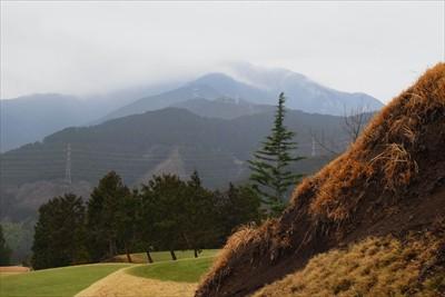 大山山頂はガスで見られず。...
