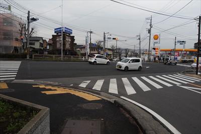 名古木の交差点。今日のルートで...