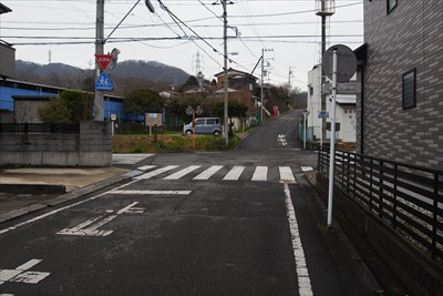 ここの交差点を左に曲がればニト...