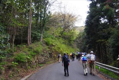 スタート地点は右側が山で左が谷...