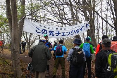 登山道を15分ほど登ると皇鈴山...
