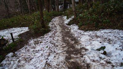 まだ雪がチョット残っている。...