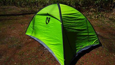 ・・・張る!テントを張ったら、...