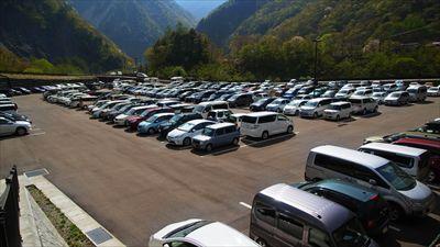 ・・・駐車場。...