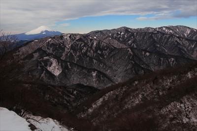 晴れていればこんな感じに富士山...