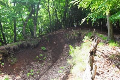 林道は少し先で行き止まっていた...
