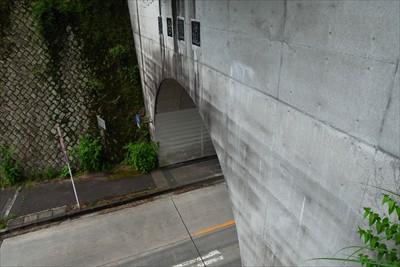 トンネルを見下ろす。...