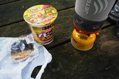 当初はミツバ岳山頂で昼食にしよ...