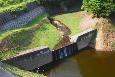 ダム湖の水位が下がっているこの...