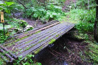 うっ、また木の橋・・・。慎重に...