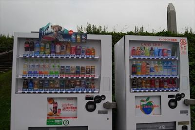 自動販売機はあるけど、ゴミ箱が...