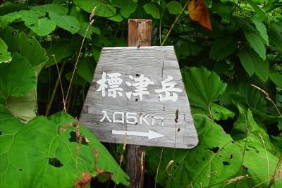 養老牛温泉の脇に標津岳への登山...