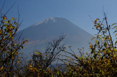 ここからはちょっと富士山が見え...