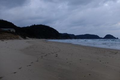 再び砂浜。...