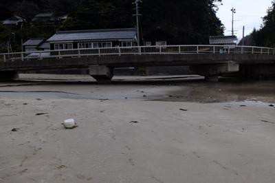 砂浜に掛る橋を・・・...