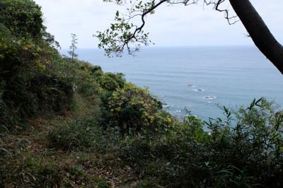 ずーっと右側は日本海が広がって...