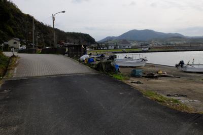 岩戸の漁港。...