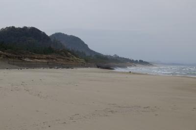 あの2つの山の向こう側が鳥取砂...